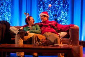 "Luke Chapman and Sara Renee Morris in ""Going Home,"" one of five plays as part of City Lights Theatre Company's ""Christmas Shorts."" (Photo by Robyn Winslow)"