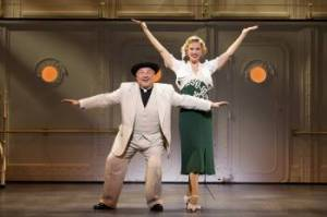"Moonface Martin (Fred Applegate) and Reno Sweeney (Rachel York) are in middle of plenty of high seas hijinks in ""Anything Goes,"" opening on Wednesday, Jan. 9th (Photo by Joan Marcus)"