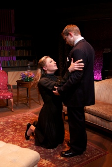 "Hedda (Hayley Galbraith) works to adjust to her new life with husband George (Robert Sean Campbell) in Henrik Ibsen's ""Hedda Gabler."" (Photo by Robyn Winslow)"