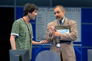 Ross (Imran Sheikh)  and Avinash (Rajesh Bose) clash on the best way to collect debt. (Photo by Kevin Berne)