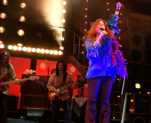 """Kacee Clanton stars as Janis Joplin in San Jose Rep's production of """"One Night With Janis Joplin,"""" running from Sept. 5th - 29th in Downtown San Jose (Photo by Kirk Tuck)"""