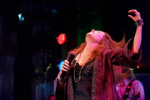 "Kacee Clanton channels the spirit and energy of the great rock singer in ""One Night with Janis Joplin"" at San Jose Repertory Theatre. (Photo by Kirk Tuck)"