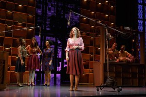 "Carole King (Jessie Mueller) finds her voice after writing for so many others in ""Beautiful: The Carole King Musical"" at the Curran Theatre in San Francisco. Broadway previews begin Nov. 21st. (Photo by Joan Marcus)"