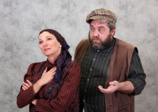"The simple dairyman Tevye  (Doug Brook) and his wife Golde (Rachel Michelberg) deal with an ever-changing world in ""Fiddler on the Roof"" at Saratoga's West Valley Light Opera through Dec. 7th. (Photo by Edmond Kwong)"