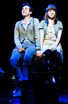 "Peter (Joey deBettencourt) and Molly (Megan Stern) mix adventure with the discovery of love in ""Peter and the Starcatcher,"" through Dec. 1st in San Francisco. (Photo by Jenny Anderson)"