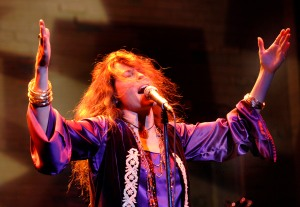 Kacee Clanton brings the house down as she belts the tunes of Janis Joplin. (Photo by Don Ipock)