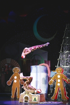 "In ""Cirque Dreams Holidaze,"" gingerbread cookies are not to be eaten, but to be flipped. (Cirque Dreams photo)"