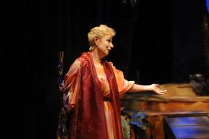 Diane Tasca plays Prospera, a character many believe that Shakespeare patterned after himself. (Photo by Marina Alsace Forte)