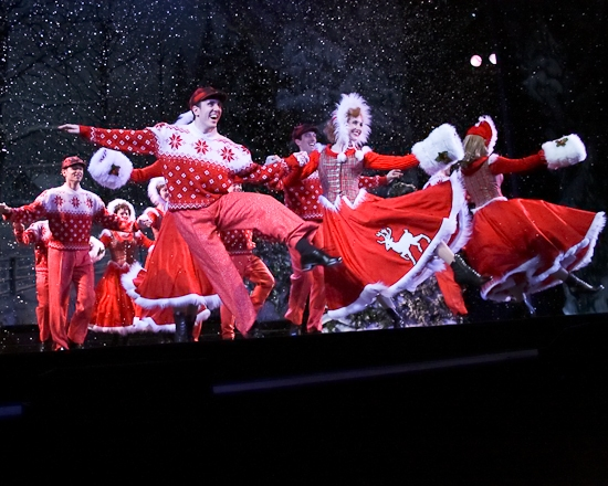 dennis obannion left performs with the broadway company of white christmas - Christmas Broadway Shows