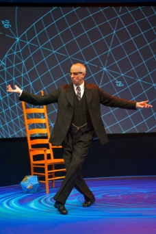 "The brilliance of R. Buckminster ""Bucky"" Fuller (Ron Campbell) comes to San Jose Repertory Theatre for three weeks (Photo by Kevin Berne)"