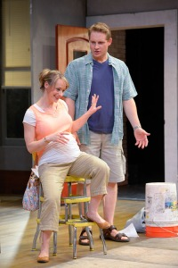 Steve (Craig Marker) and Lindsey (Kendra Lee Oberhauser) create some cringe-worthy moments. (Photo by mellopix.com)