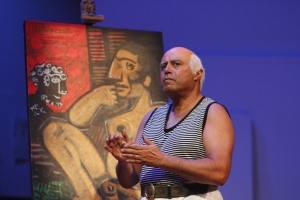 "Herbert Siguenza as ""Pablo Picasso."" (Photo by Darren Scott)"