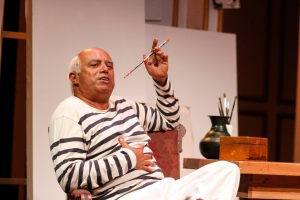 "Herbert Siguenza captures the essence of Pablo Picasso in ""A Weekend with Pablo Picasso"" at San Jose Stage Company through Dec. 7th. (Photo by Darren Scott)"