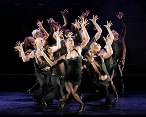 "Terra C. MacLeod as Velma Kelly leads a fierce group of performers in ""Chicago,"" at the Orpheum Theatre in San Francisco through Nov. 16th. (Photo by Paul Kolnik)"