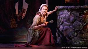 "Cinderella (Paige Faure) dreams of a life of romance in ""Cinderella"" at Broadway San Jose through March 8th. (Photo by Carol Rosegg)"