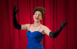 Denise Wharmby plays Broadway legend Ethel Merman in