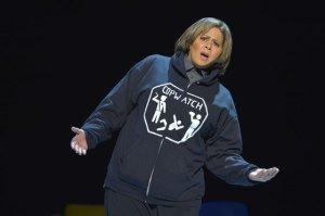 Anna Deavere Smith portrays Kevin Moore, videographer of the Freddie Gray police brutality video which sparks riots and protests in Baltimore. (Photo by Kevinberne.com)