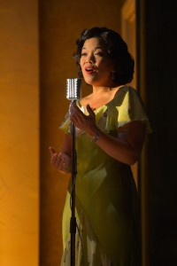 The Singer (Melody Butiu) in Remember the I-Hotel. (Photo by Kevin Berne)